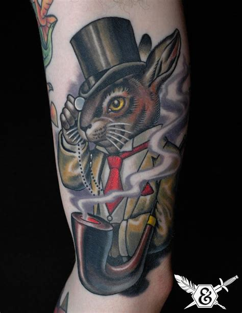 magician tattoo put a in your step with rabbit tattoos 171