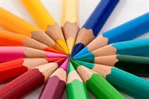 bunte le bilder und suchen farbstifte