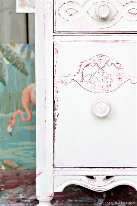 shabby chic white paint shabby chic pink and white paint layers for furniture