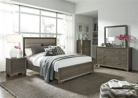 gray bedroom set hartly gray wash youth upholstered panel bedroom set from