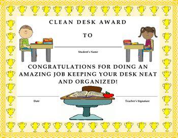 Clean Desk Award by Clean Desk Award Certificate Will It By