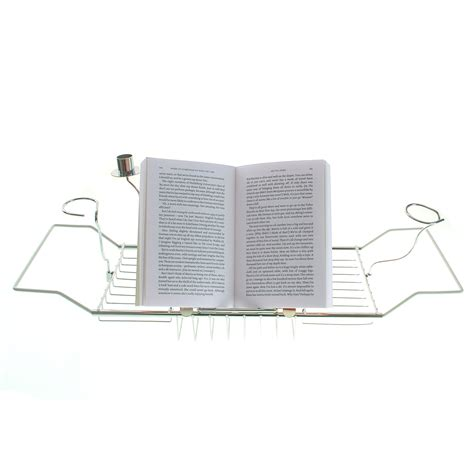 Bathtub Book Holder by Adjustable Bath Rack Book Stand Bathtub Shelf Tray Glass Holder Ebay