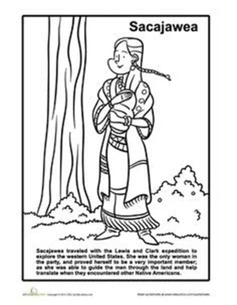 1000 Images About Ahg Sacagawea On Pinterest Lewis And Sacagawea Coloring Page