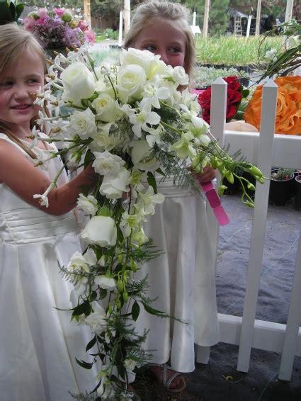 bridal bokay cascading bridal bokay in bend or autry s 4 seasons florist