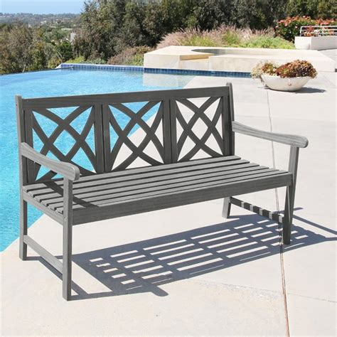 natural wood bench outdoor outdoor bench in natural v1611