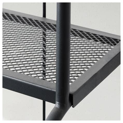 l 196 ck 214 shelving unit outdoor grey 61x160 cm ikea