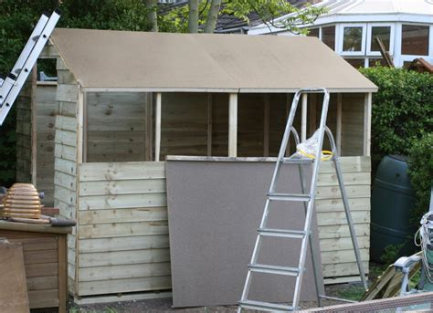 Roofing A Shed With Felt by A New Blue Shed