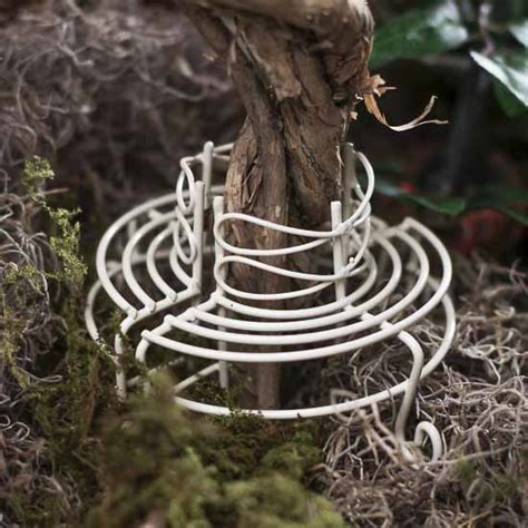 tree ring bench miniature antique white wire tree ring bench fairy garden miniatures dollhouse