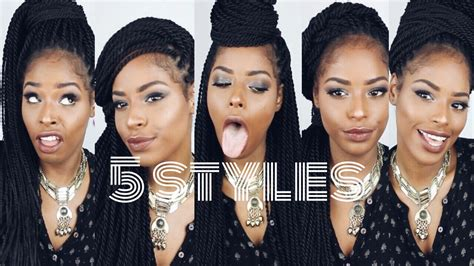 are sengalese easier to style than box how to style senegalese twists box braids youtube