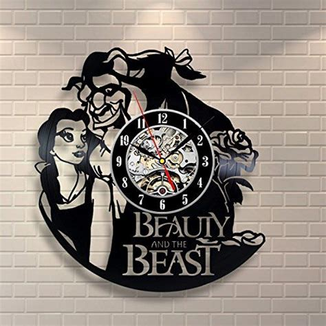 can you get a vinyl design of a shirt and the beast vinyl record design wall clock