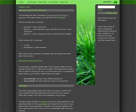 free dnn templates free dotnetnuke template free xtremefiles