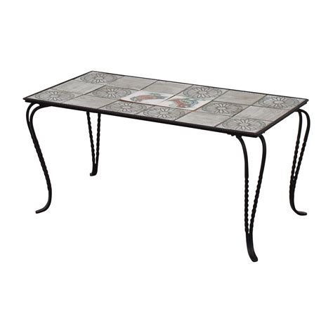 wrought iron and tile coffee table 90 wrought iron tile table tables