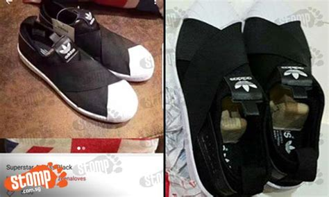 woman buys authentic adidas shoes   seller  turn    fake singapore