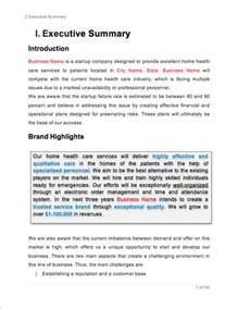 Healthcare Business Plan Template Home Health Care Business Plan Sample Pages Black Box