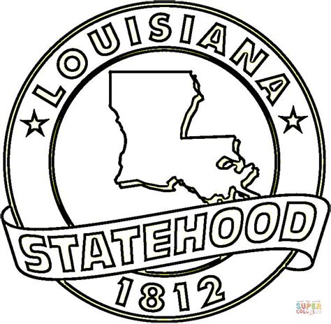 state of louisiana coloring page free printable coloring