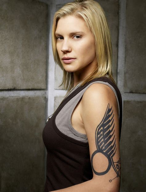 starbuck tattoo katee sackhoff to in valkyrie