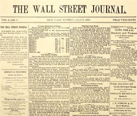 wall street journal review section what makes the wall street journal look like the wall
