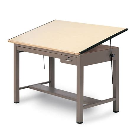 Drafting Table Desk Combo by Laminate Ranger Steel Four Post B Combination Table Wayfair