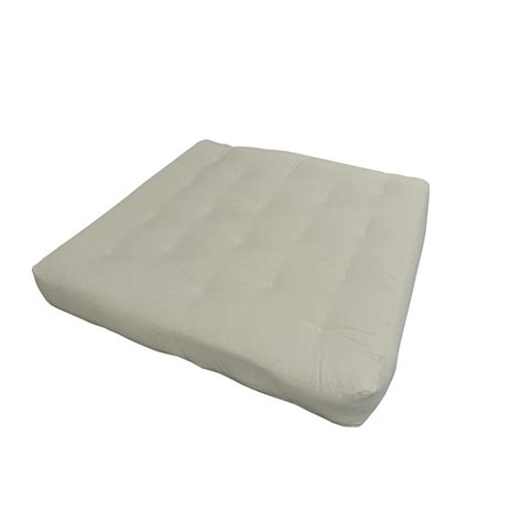 foam futon mattress gold bond 611 full 8 in foam and cotton natural futon