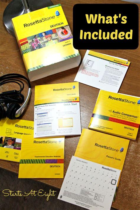 rosetta stone german used learn german with rosetta stone homeschool startsateight