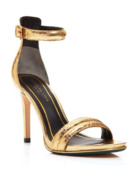 gold sandals high heels ankle sandals heels metallic gold gold sandals heels