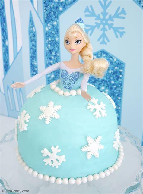 elsa doll birthday cake party ideas party printables blog