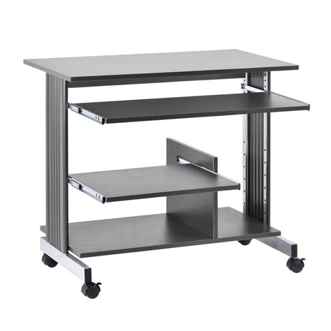 Buddy Products 31 In H X 36 In W X 22 In D Euroflex Silver Computer Desk