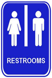 bathroom signs free clipart
