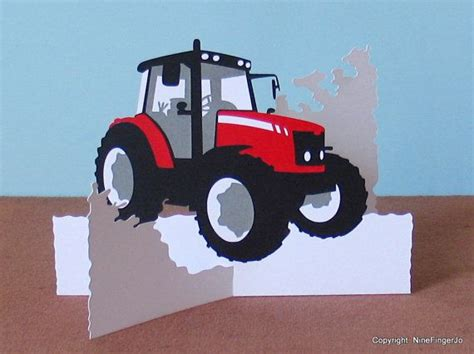 pop up tractor card template tractor birthday card tractor gifts gift for farmer
