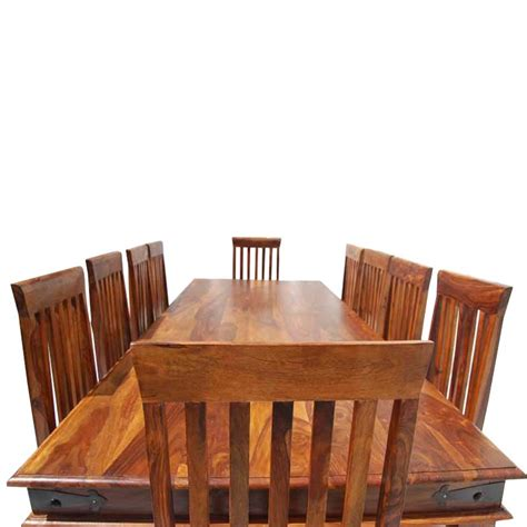 large dining room sets rustic lincoln study large dining room table chair set for 10