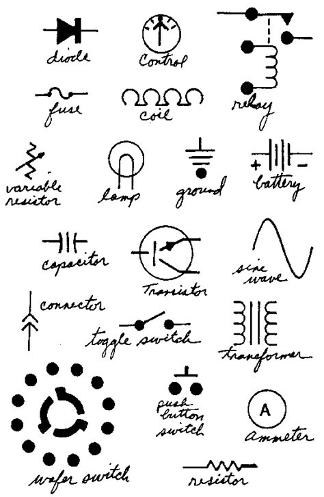 electrical engineering schematic symbols get free image
