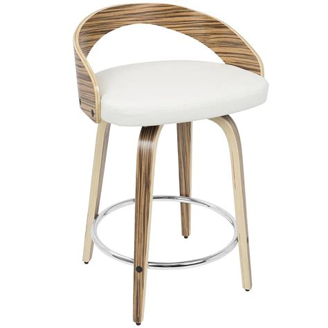 Lumisource Grotto Counter Stool by Grotto Counter Height Stool Zebra White Lumisource