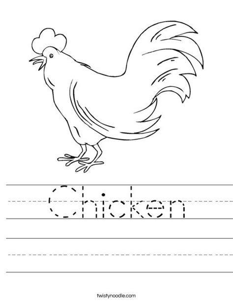 chicken coloring pages preschool chicken worksheet from twistynoodle com letter c