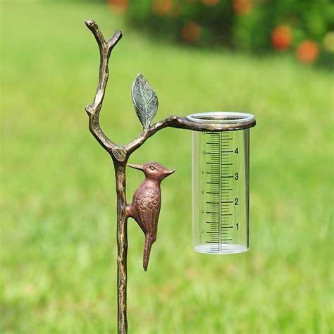 Kitchen Canisters Glass Spi Woodpecker Wide Rain Gauge 34144