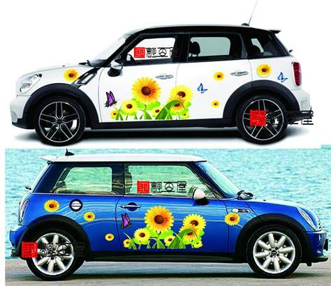 Auto Sticker Pusteblume by Free Shipping Outstanding Sun Flowers Pattern Fashion Car