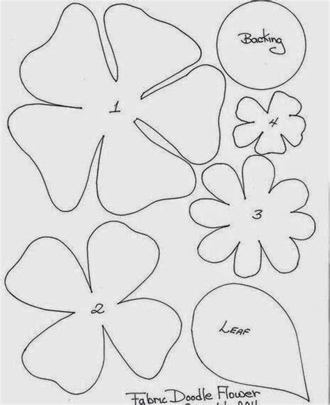 Moldes Y Dise 241 Os De Flores En Fieltro Cositasconmesh Hawaiian Flower Template