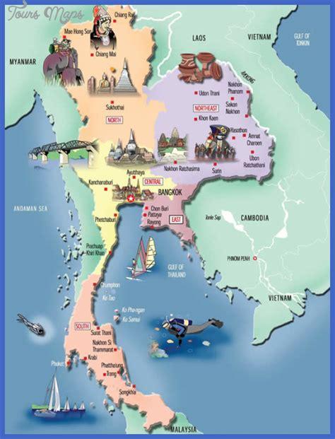thailand map tourist attractions toursmapscom