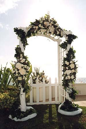 Wedding Arch Arrangement With Tulle by Wedding Arches