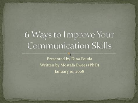 6 ways to improve your communication skills
