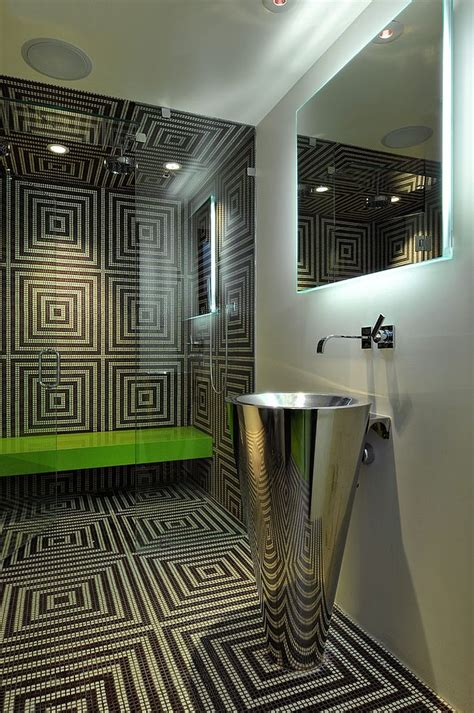 Modern Bathroom Mosaic Design 25 Creative Geometric Tile Ideas That Bring Excitement To