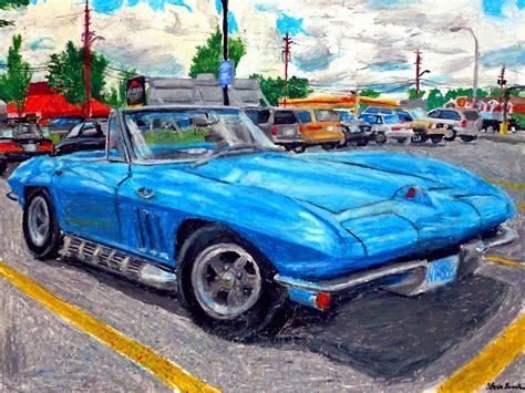 corvette 1960s fluidr an pastel drawing of a mid 1960 s corvette