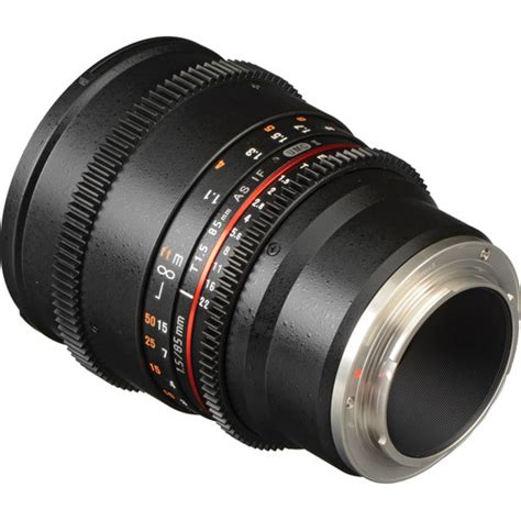 samyang 85mm t1 5 vdslr mk ii cine lens sony nex