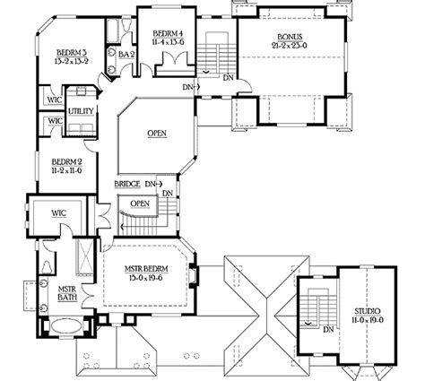 U Shaped Floor Plan by Plan 23195jd U Shaped Home Plan With Tour