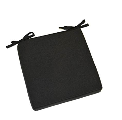 black chair cushions with ties indoor outdoor solid black 17 quot x 17 quot square universal 3