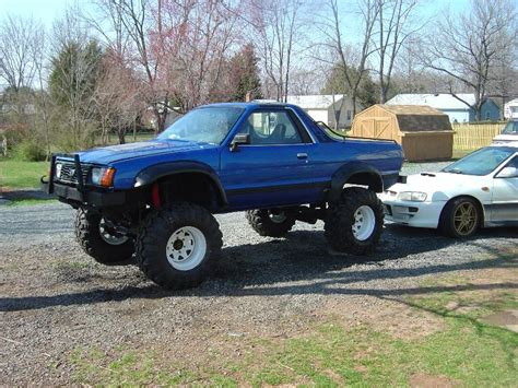 subaru brat lifted pics of the initial install of the lift