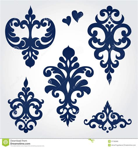 ornament design elements vector set vector set with baroque ornaments in victorian style