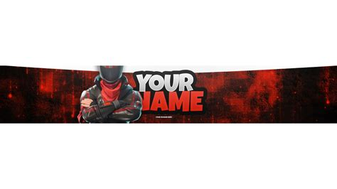 Awesome Fortnite Gaming Banner Template Fortnite Banner Template