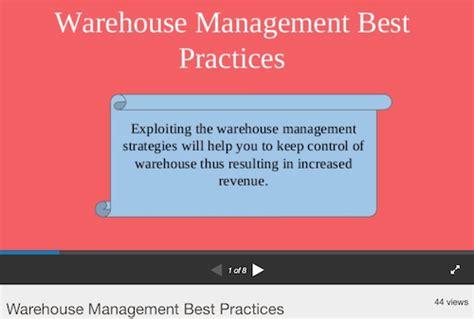 warehouse layout best practices best warehouse management presentations and slide decks