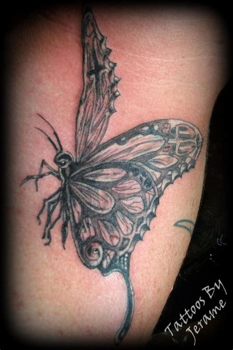 butterfly tattoo grey butterfly tattoos and designs page 540