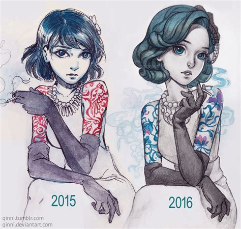 classy tattoo lady by qinni on deviantart